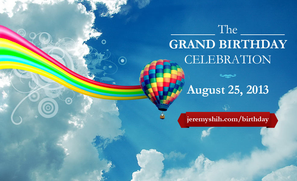 Hot Air Balloon for Birthday